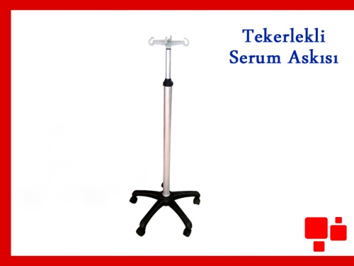 TEKERLEKLİ SERUM ASKISI